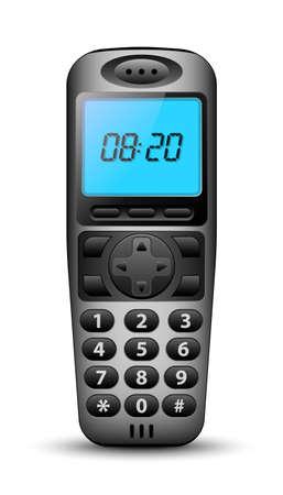 clock radio: Modern wireless phone. Vector illustration