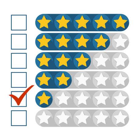 rating: Low rating concept, vector illustration Illustration