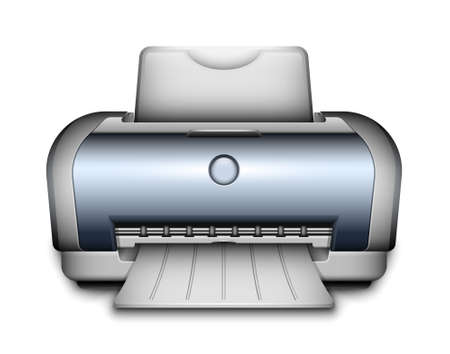 inkjet printer: Vector Printer Icon Illustration