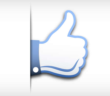 social web sites: Thumbs up vector illustration