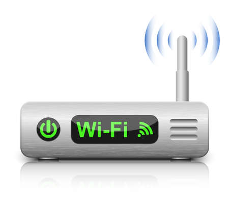 network router: Vector Wireless Router Icon