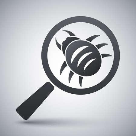 virus alert: Vector antivirus scanning icon Illustration