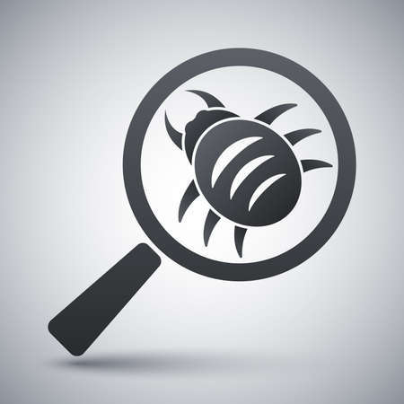 scanning: Vector antivirus scanning icon Illustration