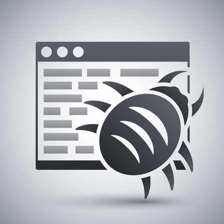 malware: Vector malware icon
