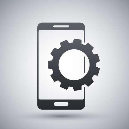 settings icon: Vector smartphone settings icon Illustration