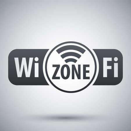 adsl: Vector Wi-Fi zone icon