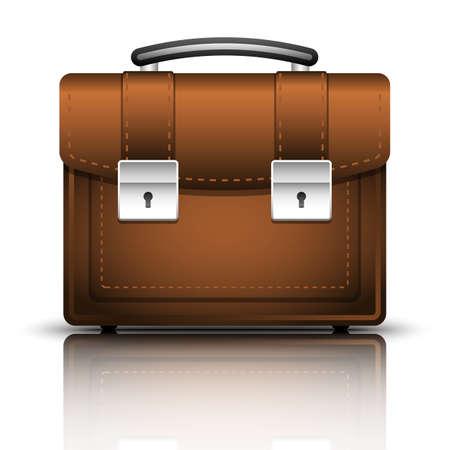 respectable: Briefcase icon, vector