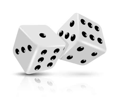 backgammon: Vector dices icon