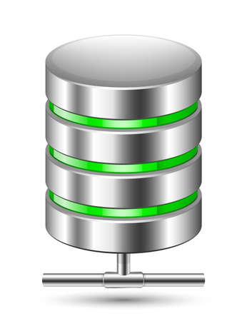 hardware icon: Database Icon. Vector illustration Illustration