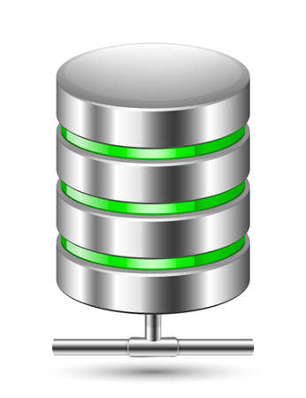Database Icon. Vector illustration Illustration