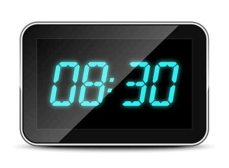 pm: Digital clock icon, vector illustration