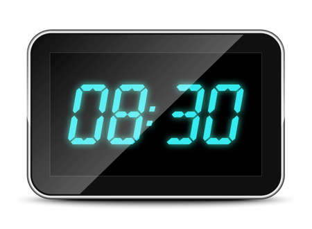 Digital clock icon, vector illustration