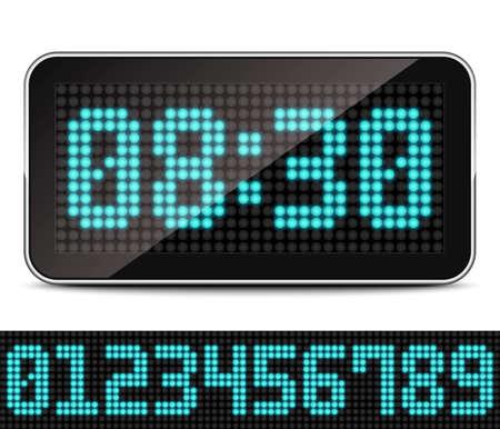 digital timer: Digital LED Clock, Vector
