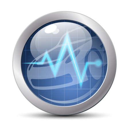 diagnostic: Car diagnostics icon. Vector