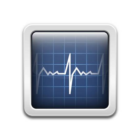 Vector diagnostic monitor icon Illustration