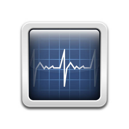 medical evaluation: Vector diagnostic monitor icon Illustration