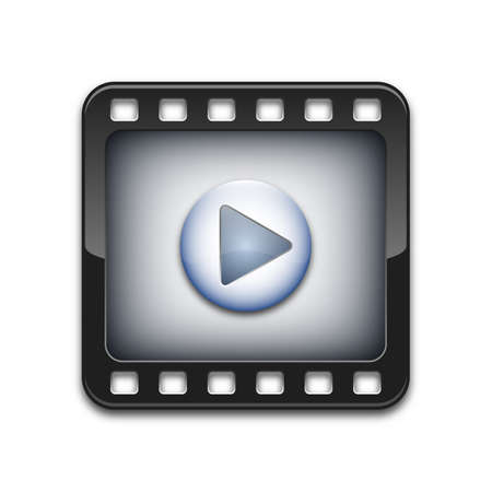 media player: Vector media player icon Illustration
