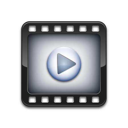 Vector media player icon Stock Illustratie