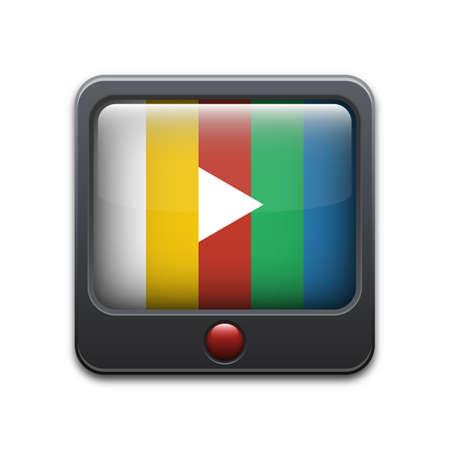 tv set: Vector TV set icon Illustration