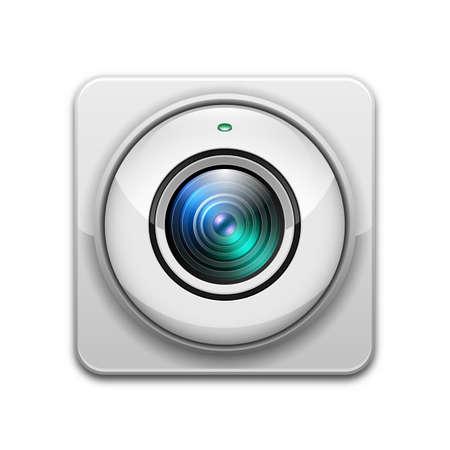 ip camera: Vector web camera icon