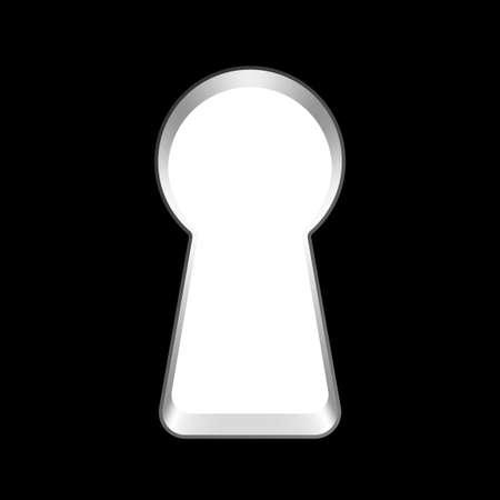 벡터 열쇠 구멍 일러스트