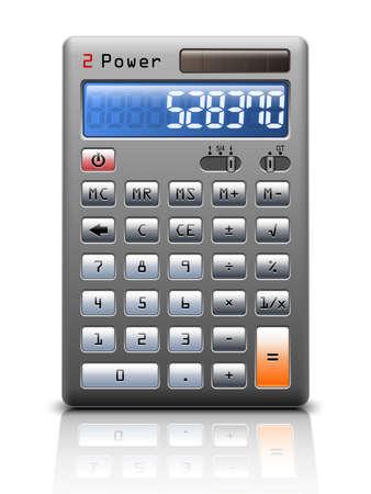 teclado numerico: Calculadora clásico en el fondo blanco, ilustración vectorial