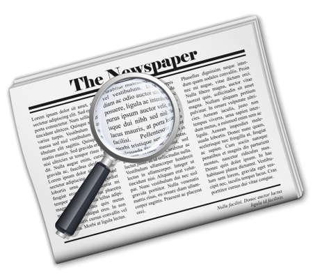 periodicals: Newspaper icon. Vector
