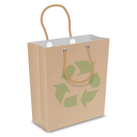 recycled: Vector recycled shopping bag Illustration
