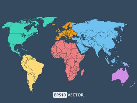 mapa de europa: Mapa del mundo ilustración, vectoriales