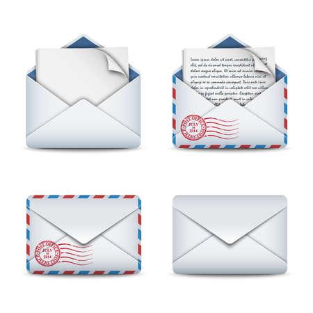 E-mail ikony koncepcja, ilustracji wektorowych