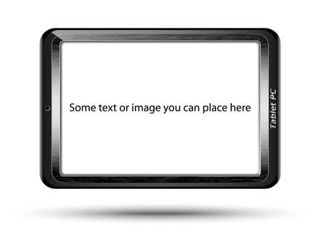 original design: Tablet PC with blank screen, original design. Vector