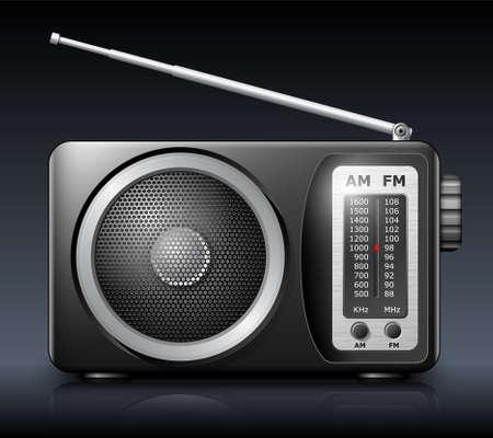 selector: Retro radio, vector Illustration