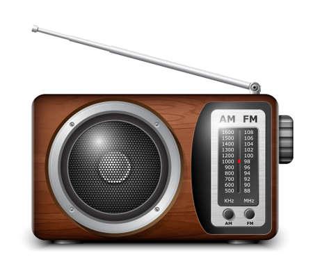 Retro radio, vector  イラスト・ベクター素材