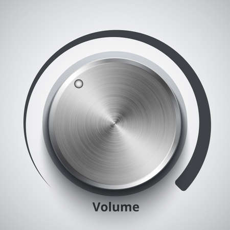 volume knob: Vector volume knob with metal texture