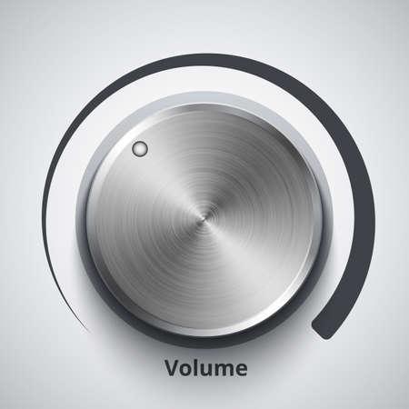 regulator: Vector volume knob with metal texture