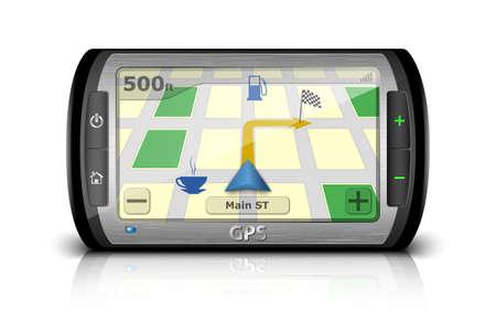 Modern GPS. Vector Illustration