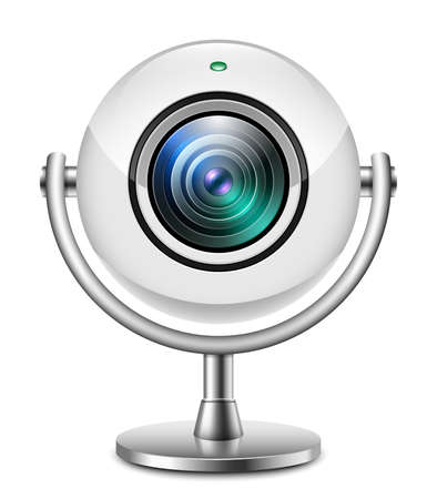 skype: Realistic web camera icon Illustration