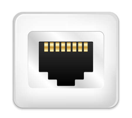 hub computer: Vector Network Socket Icon Illustration