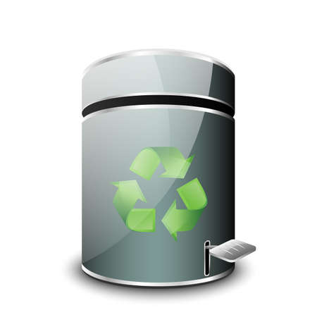 wastepaper basket: Empty Trash Icon. Vector