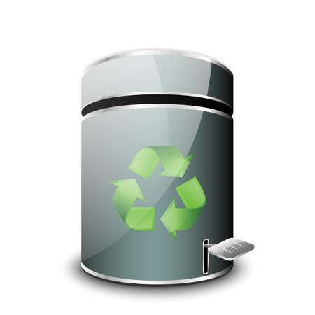 jammed: Empty Trash Icon. Vector