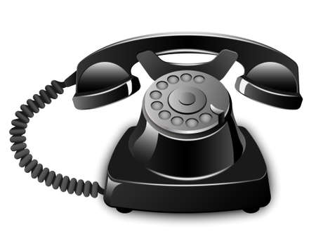 hablando por celular: Vector Vintage Teléfono