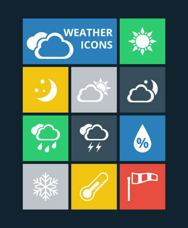 windsock: Vector weather icons set
