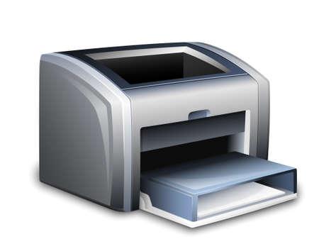 ink jet: Laser printer icon. Vector illustration