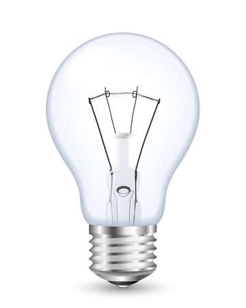 metal light bulb icon: Vector light bulb icon