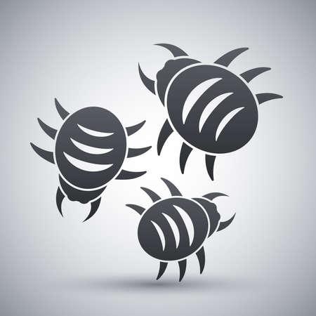 threat: Vector bugs icon Illustration