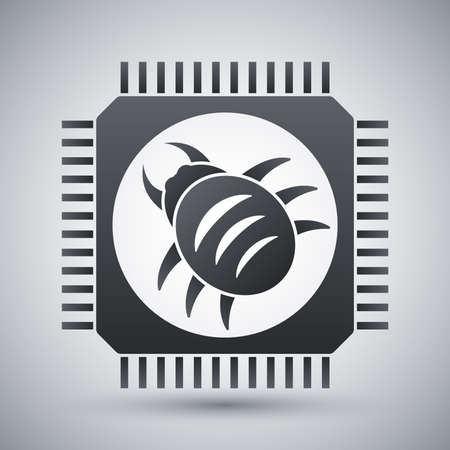 rootkit: Vector hardware bug icon