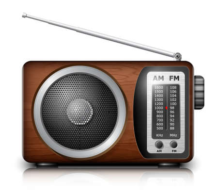 vintage radio: Retro radio, vector Illustration