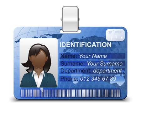 identidad personal: Icono de la tarjeta de identificación. Ilustración vectorial