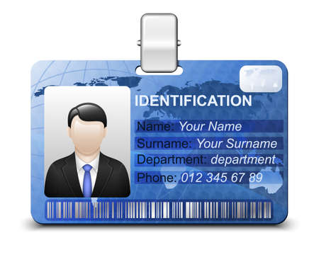 name card: Identification card icon. Vector illustration