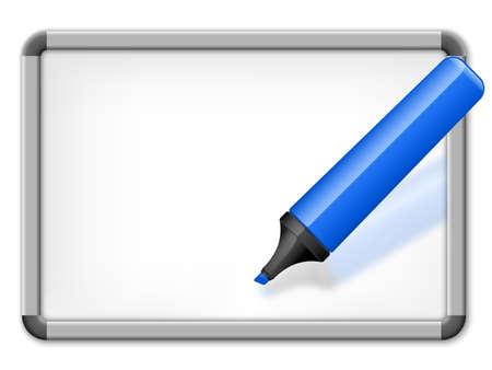 whiteboard: Whiteboard. Vector Illustration Illustration